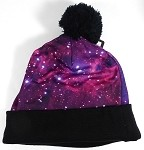 Wholesales Fashion Pom Pom Beanie Winter Hats - Galaxy - Purple