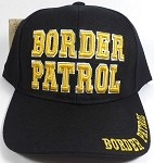 Wholesale Border Patrol Baseball Caps - Black (ONLY 19 LEFT IN THE STOCK)
