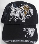 Native Pride Baseball Caps Wholesale - The Buffalo - Black