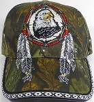 Native Pride Baseball Caps Wholesale - Eagle Dreamcatcher - Autumn Camo