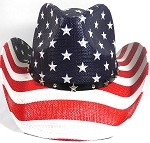 Cowboy Hat Wholesale - American Patriot - Straw and Star Belt