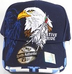 Wholesale Native Pride Baseball Cap - Eagle and Feather - Navy Blue