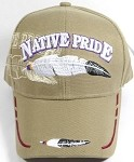 Wholesale Native Pride Baseball Cap - Feather - Khaki