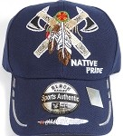 Wholesale Native Pride Baseball Cap - Warrior Axe - Navy Blue