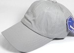 Washed 100% Cotton Plain Baseball Cap - Gold Metal Buckle - Light Gray