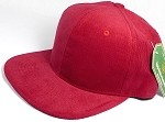 Wholesale Corduroy Blank Snapback Caps - Solid - Red