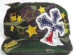 Wholesale Rhinestone Distressed Cadet Bling Hats - Texas - Camo