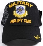 Wholesale US Military Airlift Command Baseball Cap - Black