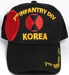 Wholesale Licensed Military Baseball Cap - Korea - 7th Infantry Division