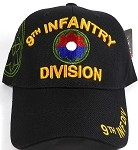 Licensed Military Hat Wholesale - 9th Infantry Division  - Black Ball Cap