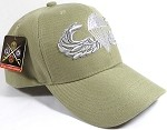 Wholesale US Army Military Caps - Army Paratrooper Logo - Khaki