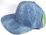 Wholesale Suede Blank Snapback Caps - Teal Blue - Solid