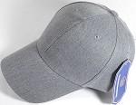 Wholesale Dad Hat - Baseball Blank Caps - Heather Grey