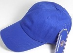 Washed 100% Cotton Plain Baseball Cap - Gold Metal Buckle - Royal Blue