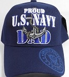 Wholesale Military Baseball Cap - US Navy - Proud United States Navy DAD