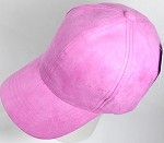 Suede Dad Hats Wholesale Blank Baseball Caps - Slider Buckle - H. Pink