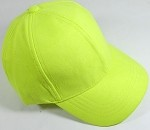 Suede Dad Hats Wholesale Blank Baseball Caps - Slider Buckle - Neon Yellow
