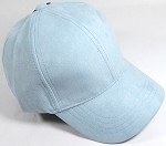 Suede Dad Hats Wholesale Blank Baseball Caps - Slider Buckle - Baby Blue