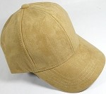 Suede Dad Hats Wholesale Blank Baseball Caps - Slider Buckle - Khaki