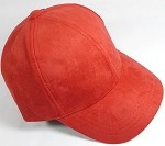 Suede Dad Hats Wholesale Blank Baseball Caps - Slider Buckle - Red