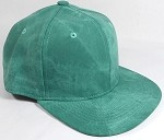 PU Suede Wholesale Blank Snapback Caps - Solid - Green