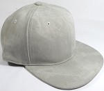 PU Suede Wholesale Blank Snapback Caps - Solid - Light Gray