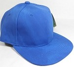 PU Suede Wholesale Blank Snapback Caps - Solid - Blue