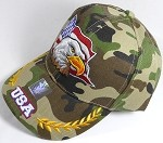 Wholesale USA Eagle Baseball Caps - Camo