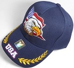 Wholesale USA Eagle Baseball Caps - Navy