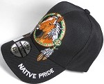 Wholesale Native Pride Baseball Cap - Horse Dream Catcher - Black