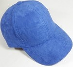 Suede Dad Hats Wholesale Blank Baseball Caps - Slider Buckle - Royal Blue