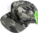Wholesale Blank Snapback Caps - Charcoal Camo - Solid