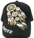 Native Pride Dreamcatcher Baseball Caps Wholesale - Black