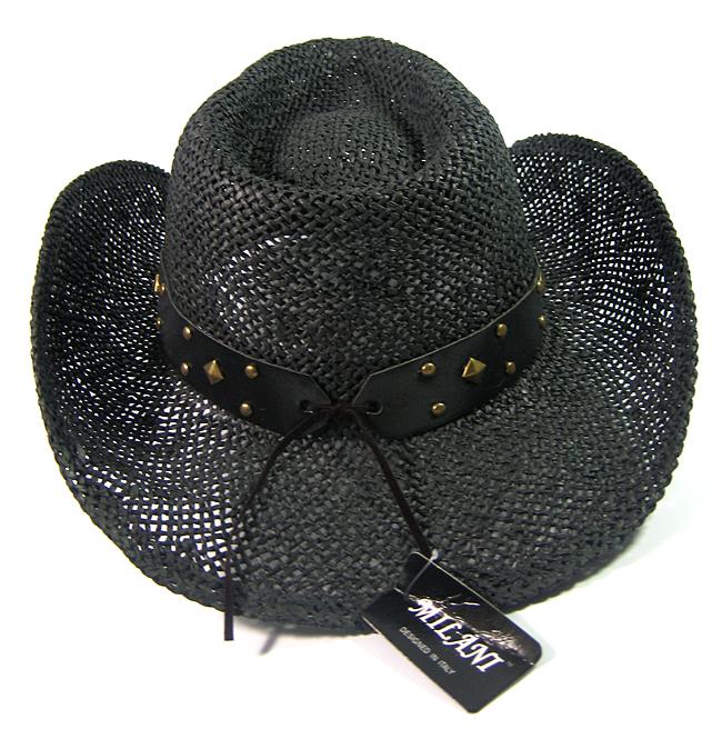 b1396b5e36903 Wholesale Western Cowboy Hats Straw Black Raffia Outback Toyo ...