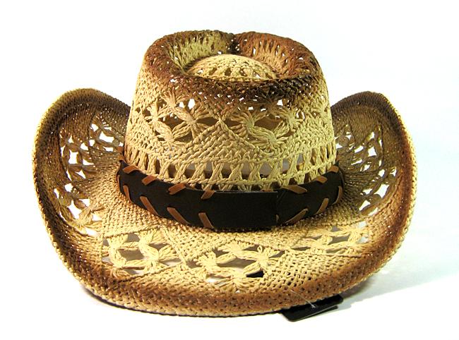 fce7f27a2b714 Wholesale Western Cowboy Straw Hats for Women Cowgirls Raffia ...