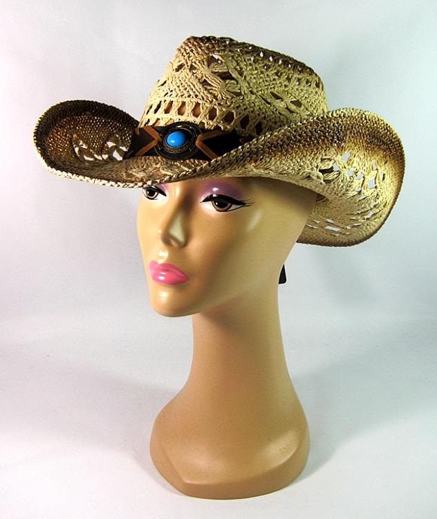 9dd22a204a478 Wholesale Western Cowboy Straw Hats for Women Cowgirls Raffia ...