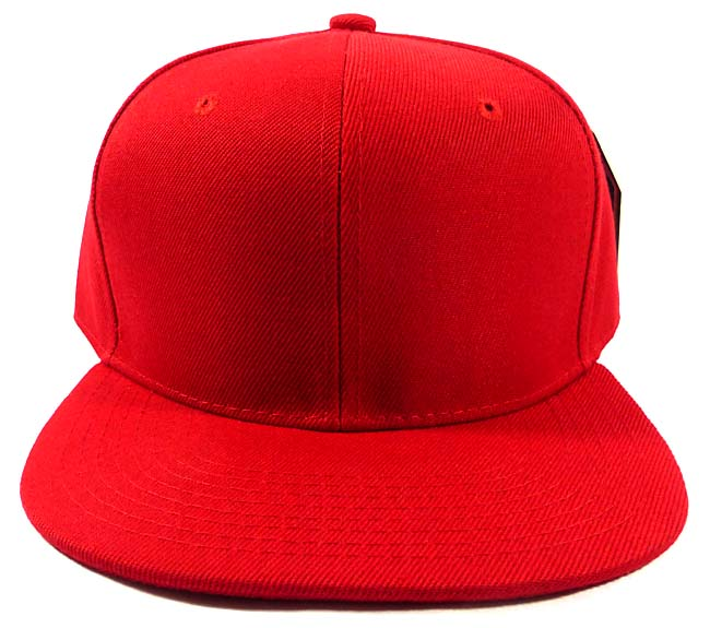 3f96e9d7662 Wholesale Blank Snapback Hat Red - Plain Ball Flat Bill Caps by August Caps  Wholesale