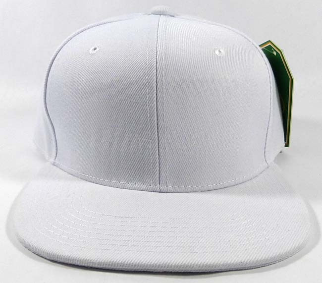 Wholesale White Blank Snapback Hats Caps - Plain Ball Flat Bill Bulk Sale 033394f6e20