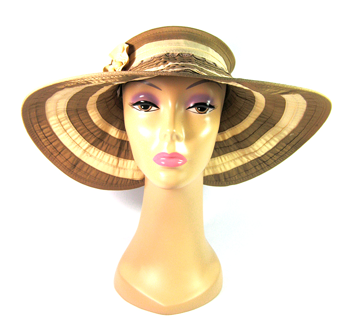 ff0d8186 Women's Sun Block Fashion Hat Visors Wholesale - Flowers Beads Sun  Protection Summer Hats Brown
