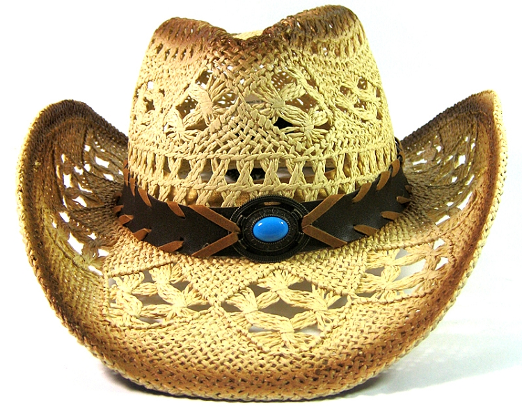 15513ad3c28 Home   ALL HATS   Western Cowboy Straw Hats Wholesale - Bead Band
