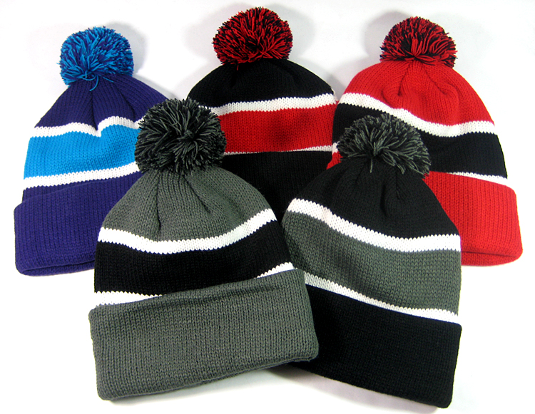 13b946b86f7 Wholesale Pom Pom Beanies Winter Trendy Hats Men Women Knit Hat