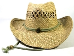 Cowboy Hat Wholesale - Button & Chin String - Natural Straw 100%
