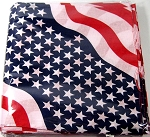 Wavy American Flag Double-Sided Bandannas Wholesale (Dozen Packed)