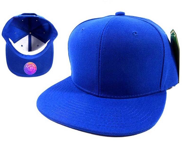 c5f7841c Wholesale Blue Blank Snapback Hats Caps - Flat Bill Plain Caps by Crown Hat  Inc