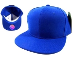 Blank Snapback Hats & Caps Wholesale - Royal Blue | Blue Brim