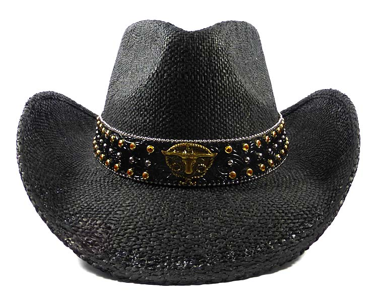 fc3beb06b6 Home   Cowboy Hats   Straw Hats   Cowboy Straw Hats Wholesale - Texas  Longhorn Belt