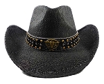 Cowboy Straw Hats Wholesale - Texas Longhorn Belt