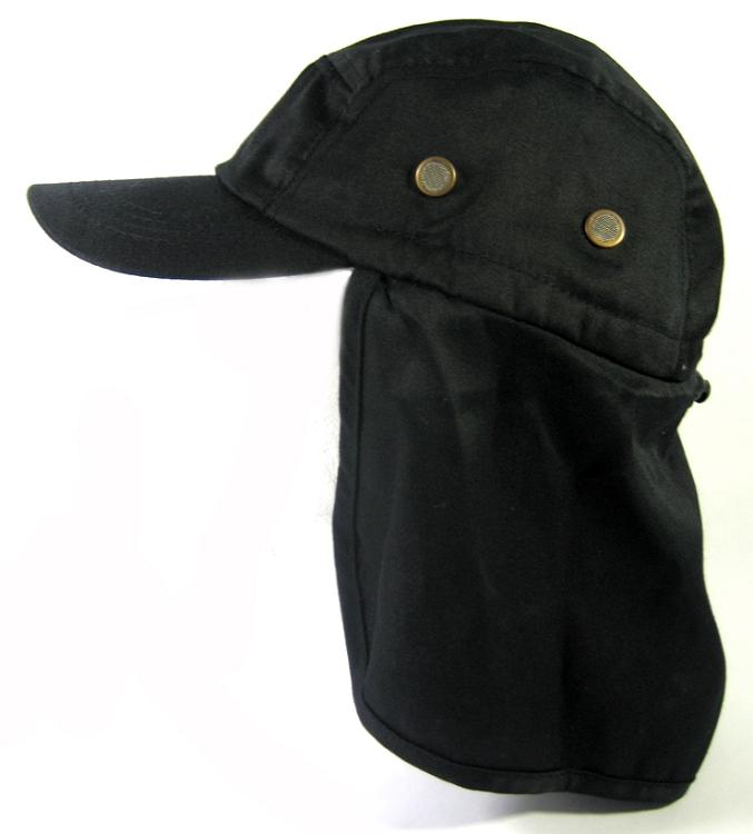 8018e257213c5 Home   ALL HATS   Ear Flap Baseball Cap Style Sun Protection Hats Wholesale  - Black