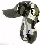 Ear Flap Baseball Cap Style Sun Protection Hats Wholesale - Grey City Camouflage