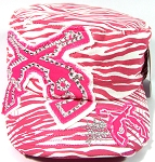 Bling Crossed Pistols Zebra Print Vintage Cadet Caps Wholesale - Pink
